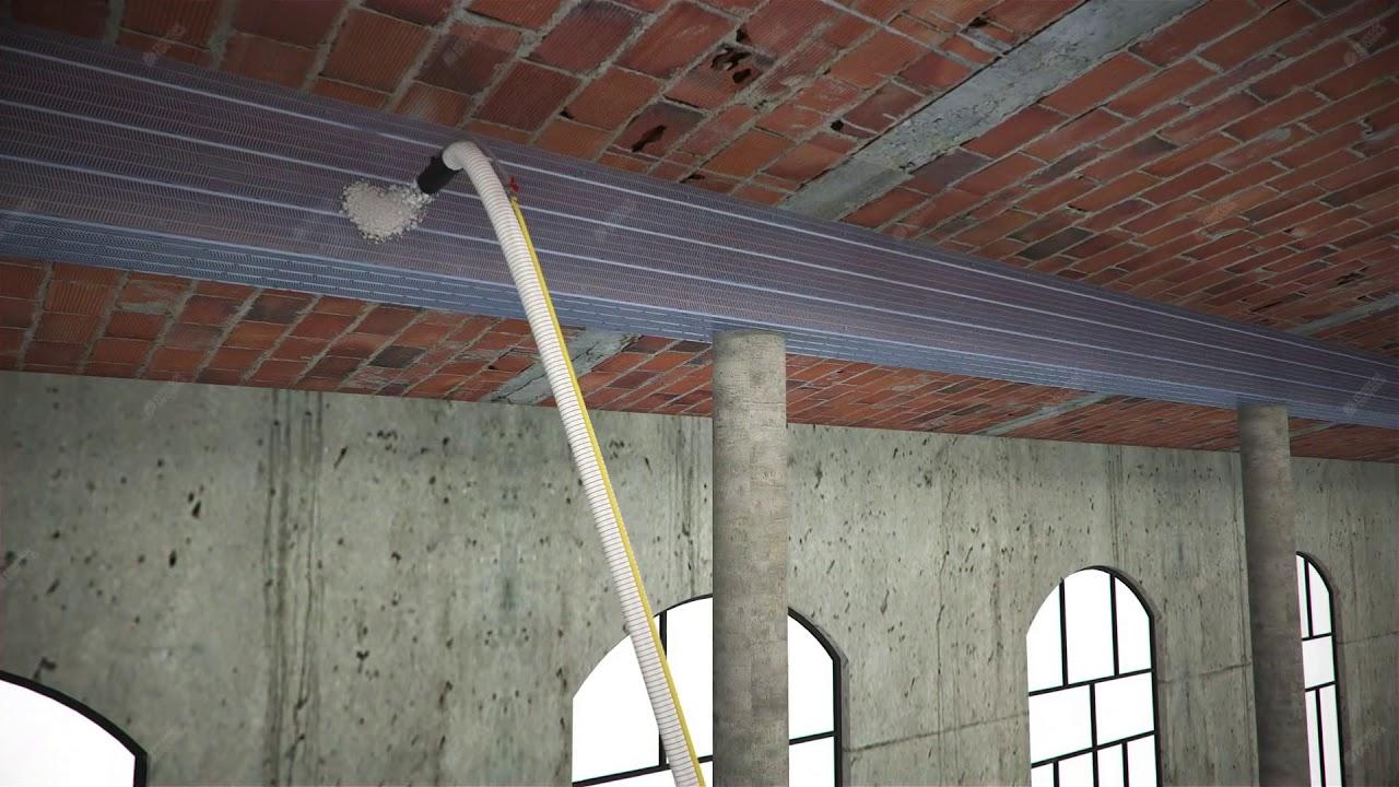 Tecwool F Mortar Protection Of Ceramic Block Slab And Wooden Beams Wiring