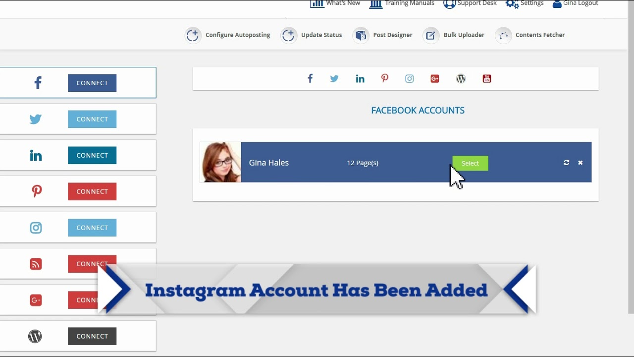 how to add Instagram White Label Solution