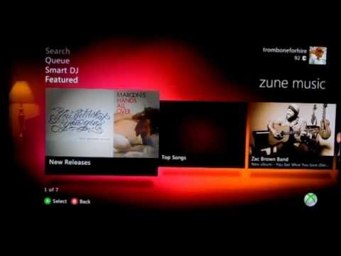 XBOX Live Update Fall 2010 Preview (2/3): Zune Music