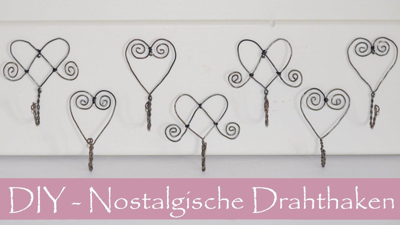 DIY- Nostalgische Haken aus Draht/Luffarslöjd/Schwedische ...