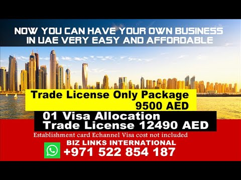Lowest UAE Dubai Sharjah Ajman RAk Fujairah Trade License Pay 2000 AED Installment