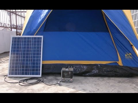 solar camping solar electric solar tent youtube. Black Bedroom Furniture Sets. Home Design Ideas