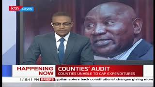 Auditor general Ouko is facing the parliamenatry account's committe about the counties' expenditure