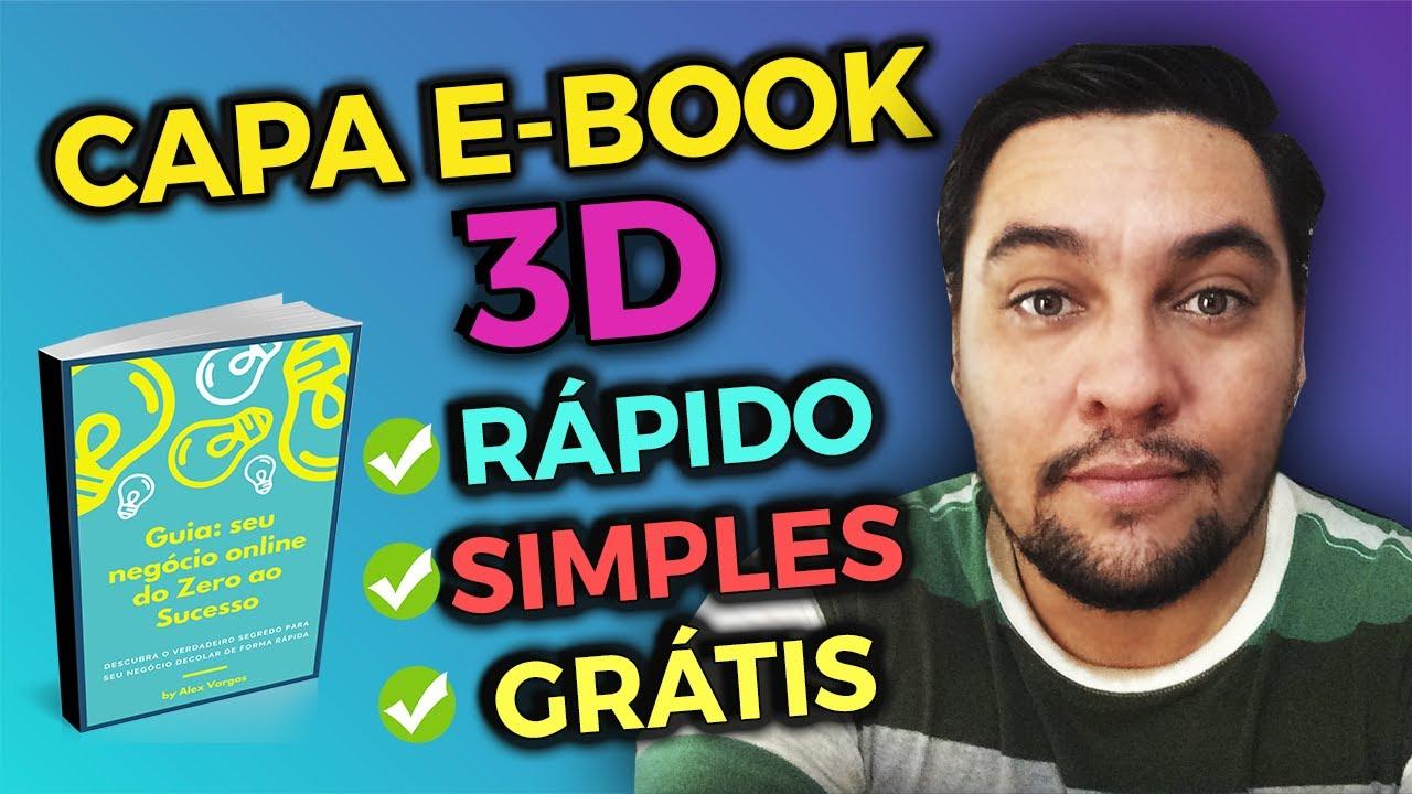 Como criar CAPA DE EBOOK 3D GRÁTIS | SIMPLES, RÁPIDO E FÁCIL com o Canva e Adazing | Jeff Silveira