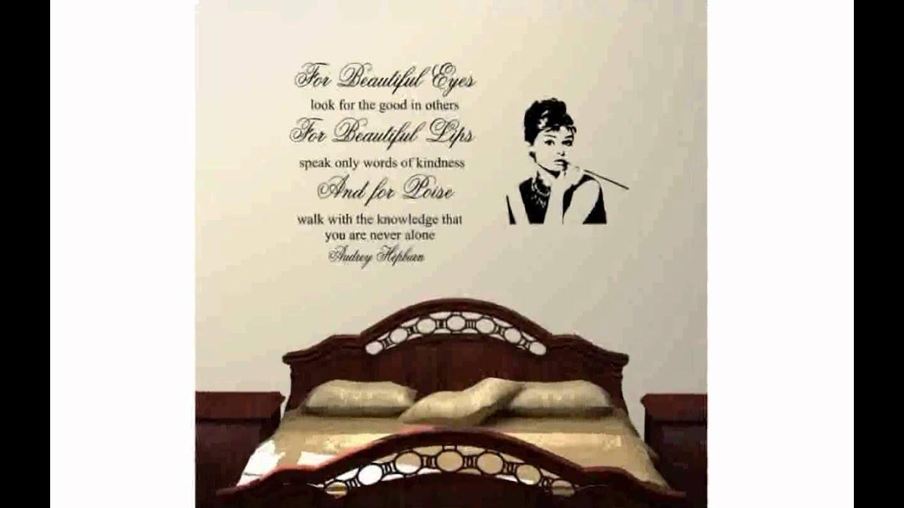 Audrey Hepburn Wall Decal - YouTube