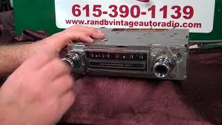 1966 Chevy C20 Pickup truck original AM radio