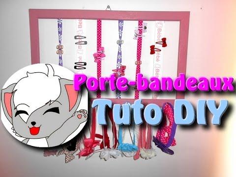 Tuto - Porte Bandeaux/Barrettes - YouTube