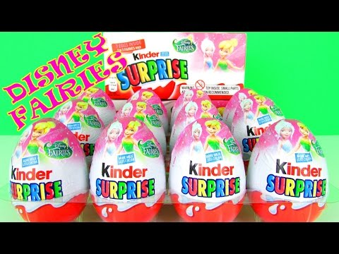 Disney Kinder Surprise Eggs  Pirate Fairies Tinker Bell Princess Fairy Toys Opening Video