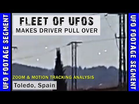 UFO SIGHTING VIDEO • Causes Driver to Pull Over • Toledo Spain