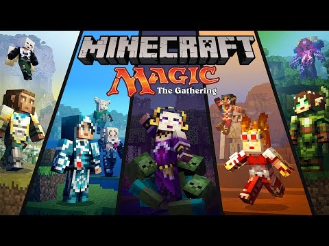 Minecraft Magic The Gathering Skin Pack trailer