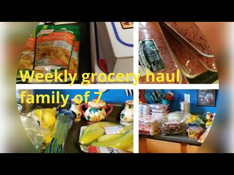 Family of 7 big grocery haul   huge double Coupons deals   weekly Claiborne hills haul  