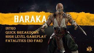 Mortal Kombat 11 The Reveal: Baraka- Intro, Quick Breakdown, High Level Gameplay, Fatalities