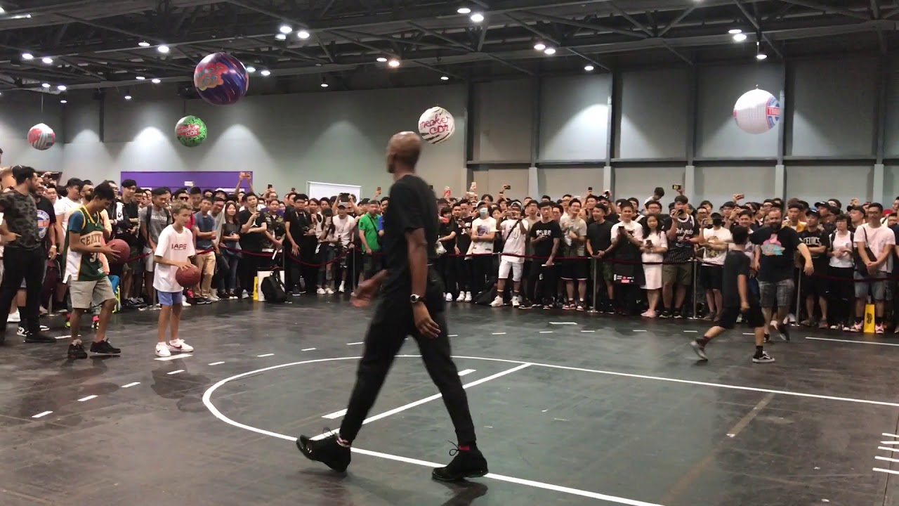 Playing Basketball With Ray Allen And A Couple Other Youtubers At Sneakercon Hong Kong Texas Shoe Exchange
