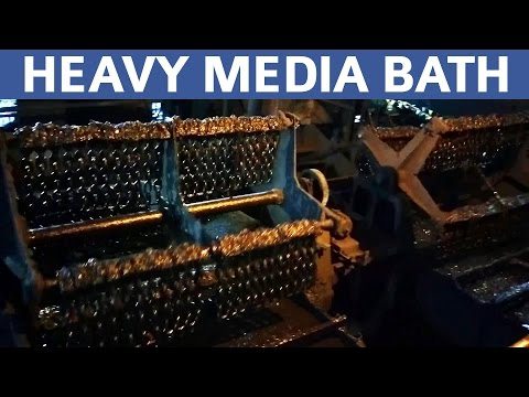 Heavy Media Bath in Operation | Mineral Processing