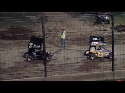 Aaron Jesina, Jesina Racing, Jr Sprint Heat, Sweet Springs MO September 23, 2016