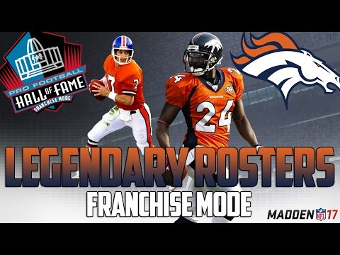 Legendary Denver Broncos Roster | Madden 17 Connected Franchise | John Elway + Terrell Davis