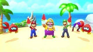 Mario Party 10 - 1 Vs 3 Minigames - Waluigi Vs Mario Vs Wario Vs Luigi All Funny Minigames