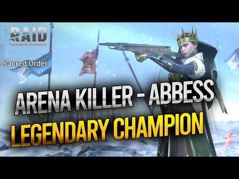 RAID Shadow Legends Hero Build ABBESS   GEAR   ARENA   Dragon Dungeon