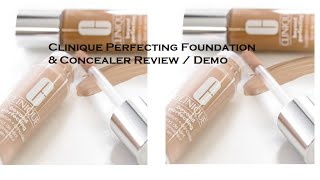Clinique Perfecting Foundation & Concealer Review/Demo