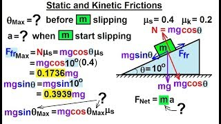 Physics - Mechanics: Appli¢ations of Newton's Second Law (18 of 20) Static and Kinetic Friction