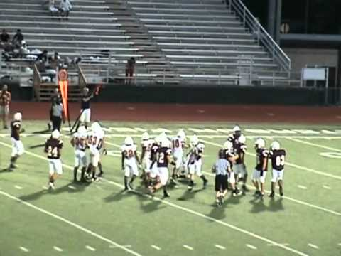 2012 Round Rock Dragons Football: JV Maroon vs Westwood 09/26/2012