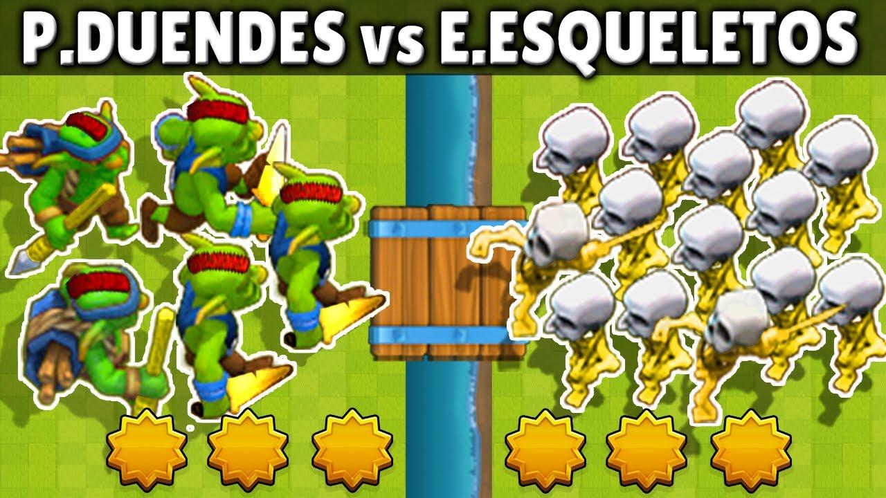 EJERCITO de ESQUELETOS vs PANDILLA de DUENDES | 1 vs 1 | OLIMPIADAS ESTELAR | CLASH ROYALE