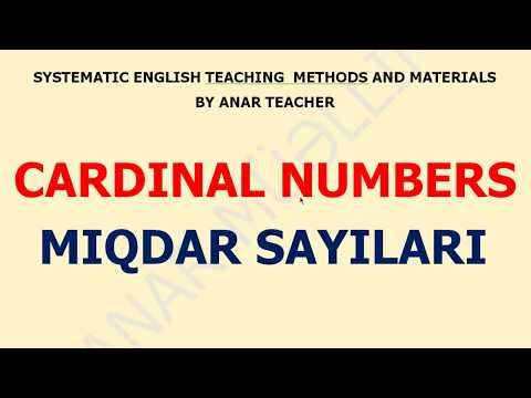 Cardinal Numbers  - Miqdar Sayıları (english pronunciation) İngilis Dili Dersleri - English Lessons