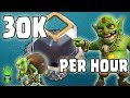 HOW TO GET 30K D.E. PER HOUR! - TH9 Mass Goblin Farming - Clash of Clans - Best Dark Elixir Farming
