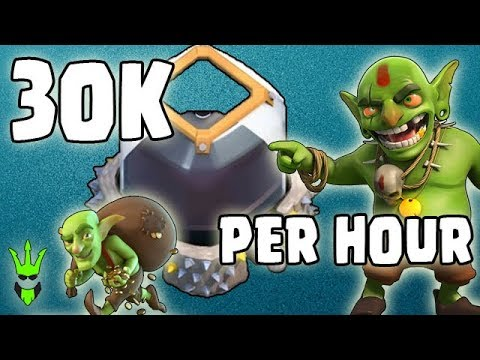 HOW TO GET 30K D.E. PER HOUR! - TH9 Mass Goblin Farming - Clash of Clans - Best Dark Elixir Farming