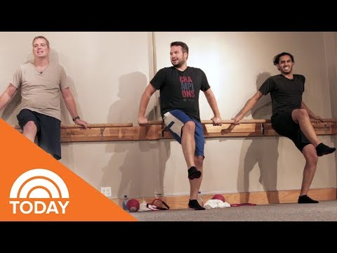 Could Men Survive A Barre Class? We Challenged 3 Dudes To Give It A Try | TODAY