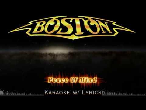 Boston - Peace Of Mind (Karaoke w/ Lyrics)