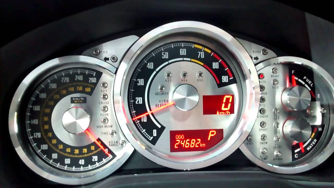 Old school Retro BRZ FR-S GT86 gauges overlays