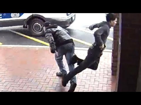 Man With Cane Trips Robber Fleeing Cops