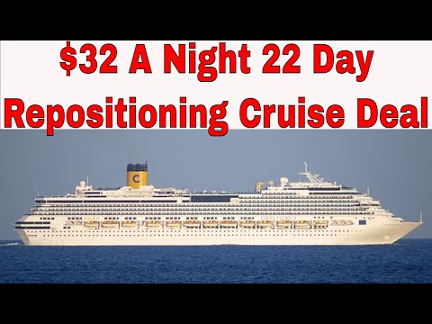 2018 Repositioning Cruise Deal $32/nt Costa Pacifica From Savona Italy To Guadeloupe