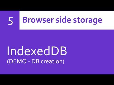 IndexedDB - DB creation (DEMO)
