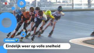 Skaters mogen voor het eerst weer een wedstrijd rijden