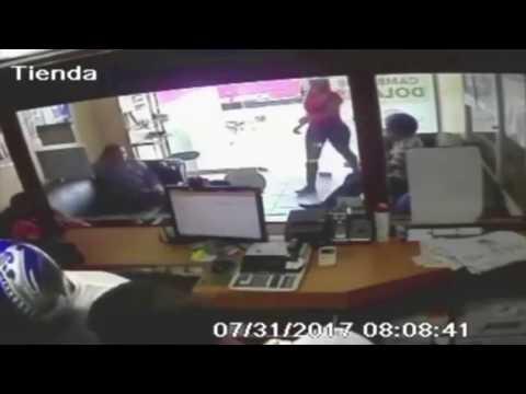 Video muestra momento del asalto a Vimenca en Santiago Rodríguez