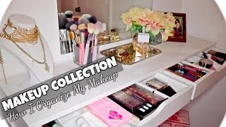 MAKEUP ORGANIZATION FOR SMALL SPACES + MAKEUP COLLECTION