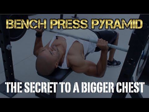 Secret To A Bigger Chest - Bench Press Pyramid Workout (HD)