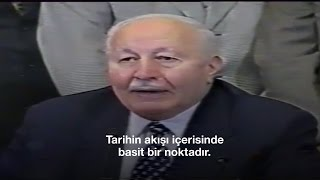 Refah Partisi kapatıldığında Erbakan'ın tarihi konuşması
