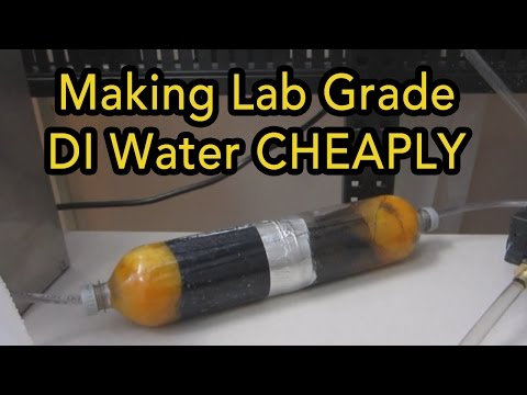 DIY Deionized water filter   18ppm reduction!   Make your own deionized laboratory water