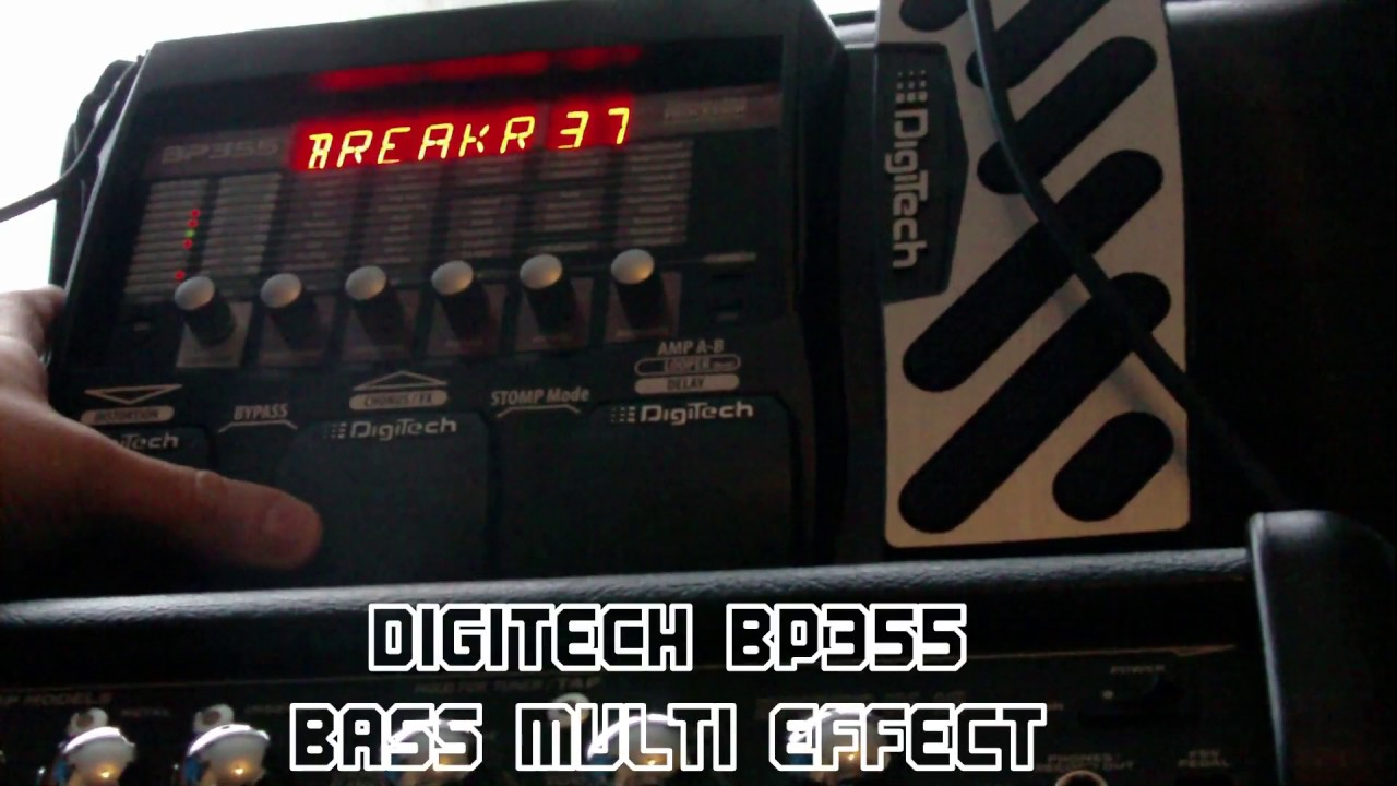 digitech bp355 bass guitar multi effects demo youtube. Black Bedroom Furniture Sets. Home Design Ideas
