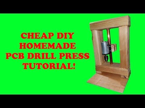 Cheap DIY Homemade PCB Drill Press Tutorial