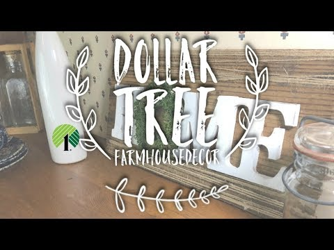 Decorating on a budget | Dollar Tree DIY | Farmhouse Decor | Upcycle Rustic wood sign