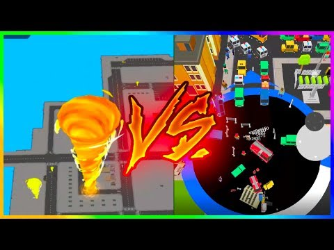 TORNADO.IO VS VOID.IO - 100% Map Control NEW .io Games ( Hole.io Gameplay )