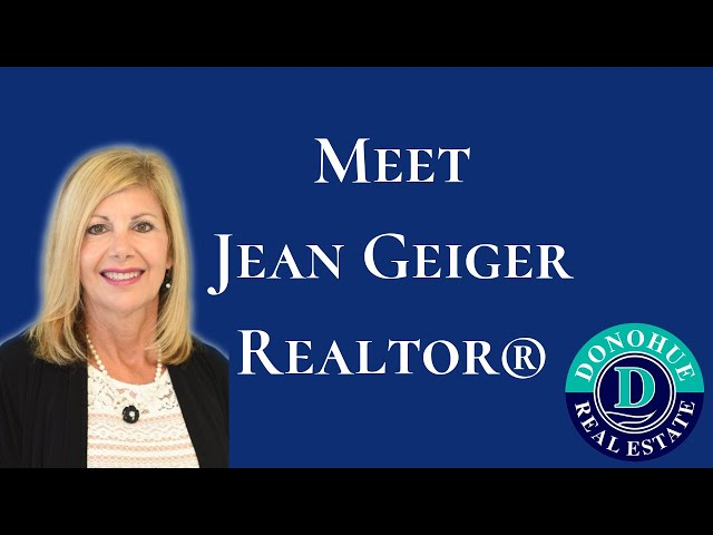 Meet Jean Geiger - Realtor® with Donohue Real Estate