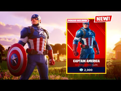 *NEW* FORTNITE CAPTAIN AMERICA ITEM SHOP NOW! CAPTAIN AMERICA LIVE EVENT! (Fortnite Battle Royale)