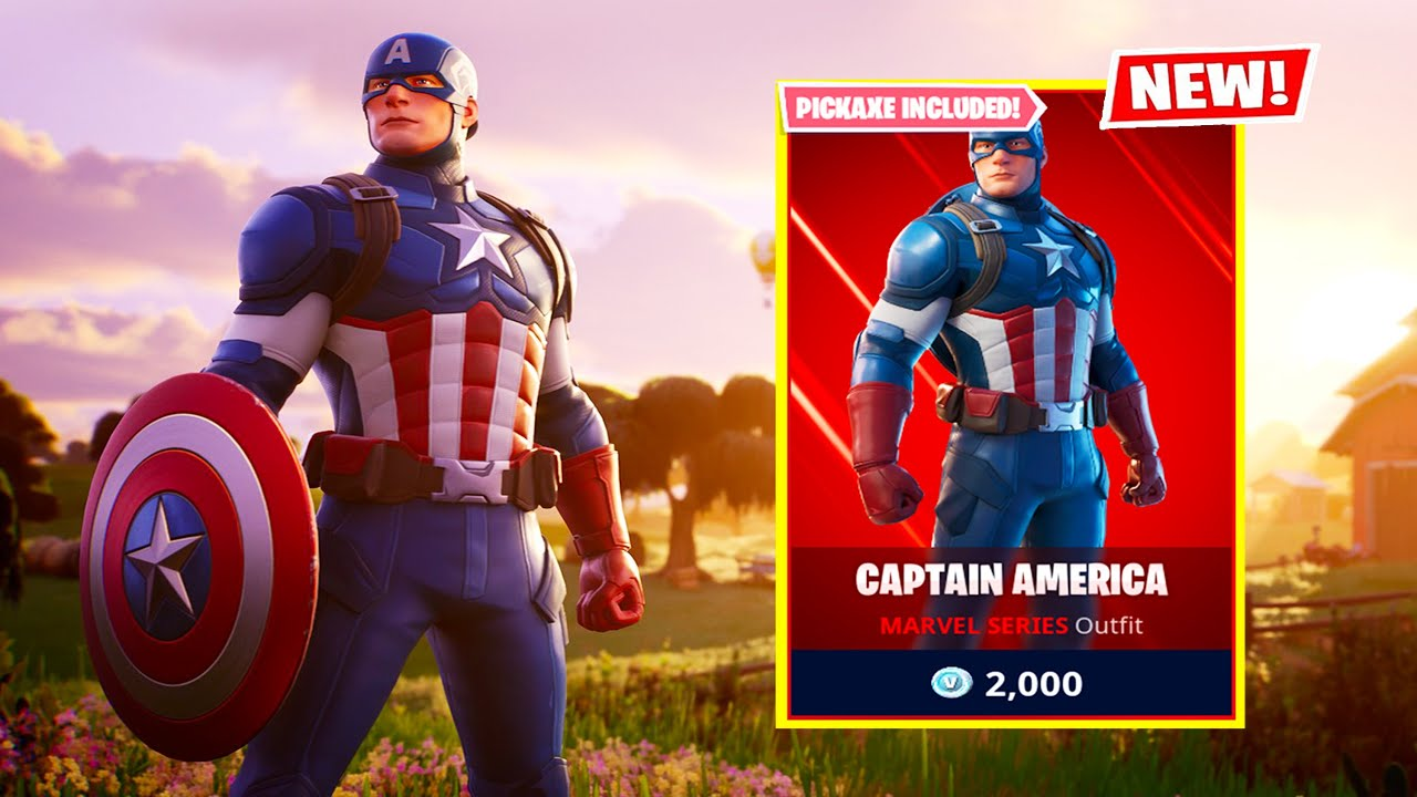 FORTNITE CAPTAIN AMERICA SKIN! (NEW)