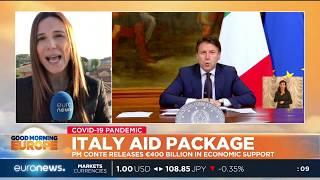 Prime Minister Conti releases €400 billion in economic support