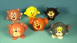 TOM AND JERRY WORLD CUP SOCCER FIFA KIDS MEAL  PLAY SET TOY REVIEW OF 6 FROM BURGER KING 2014